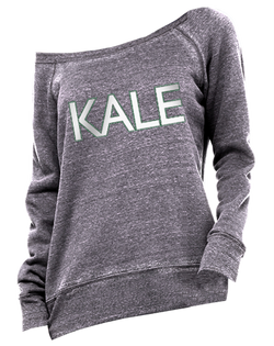 Kale Acid Fleece Wide Neck Pullover-Pacific Brandwear-Pacific Brandwear