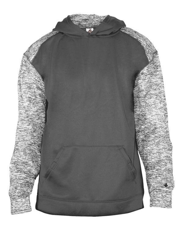 Youth Sport Blend Hooded Sweatshirt-Badger-Pacific Brandwear