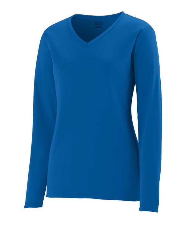 Women's Long sleeve Wicking T-Shirt-Augusta Sportswear-Pacific Brandwear