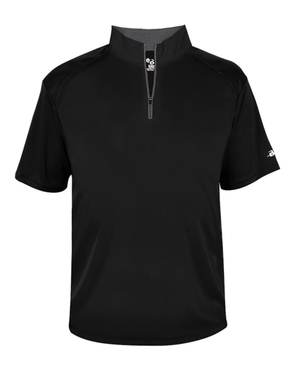 B-Core Quarter-Zip T-Shirt-Badger-Pacific Brandwear