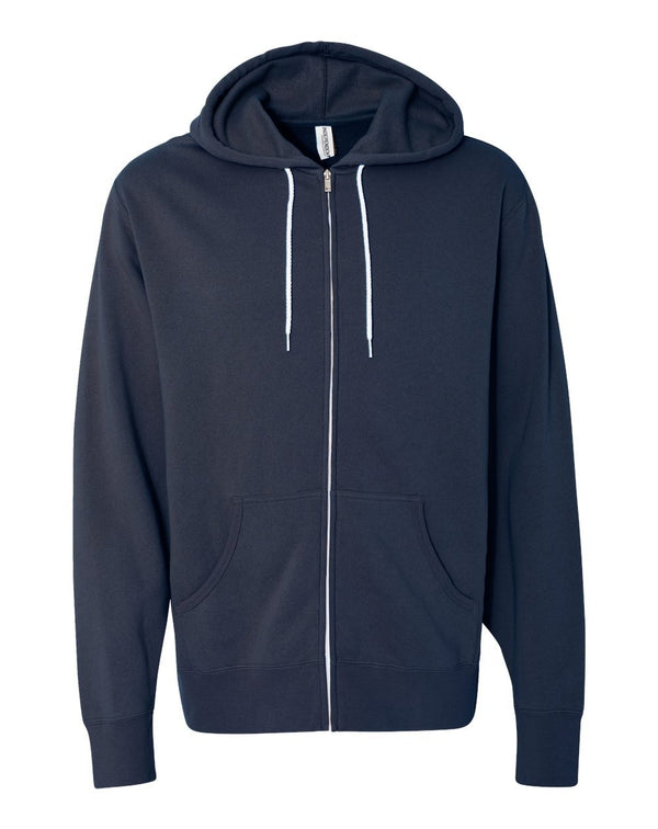 Unisex Lightweight Full-Zip Hooded Sweatshirt-Independent Trading Co.-Pacific Brandwear