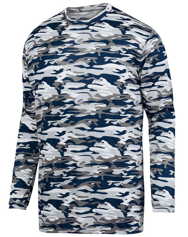 Mod Camo Long sleeve Wicking T-Shirt-Augusta Sportswear-Pacific Brandwear