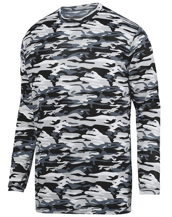 Youth Mod Camo Long sleeve Wicking T-Shirt-Augusta Sportswear-Pacific Brandwear