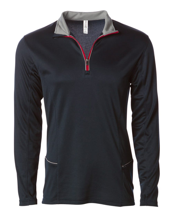 Lightweight Poly-Tech Quarter-Zip Cadet-Independent Trading Co.-Pacific Brandwear
