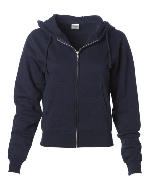 Women's Zip Hooded Sweatshirt-Independent Trading Co.-Pacific Brandwear