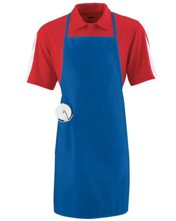 Long Apron with Pockets-Augusta Sportswear-Pacific Brandwear