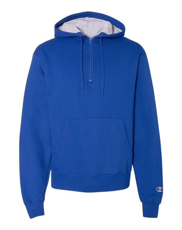 Cotton Max Hooded Quarter-Zip SweatShirt-Champion-Pacific Brandwear