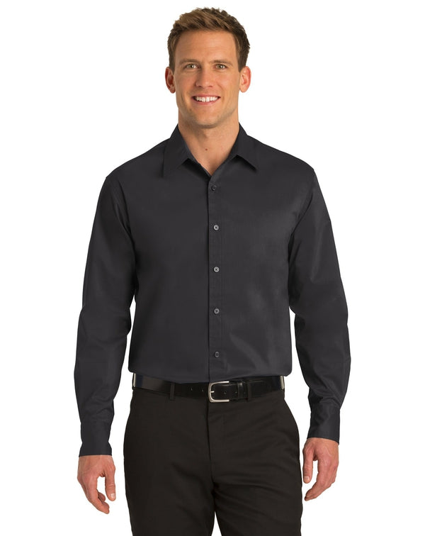 Port Authority® Stretch Poplin Shirt-Port Authority-Pacific Brandwear