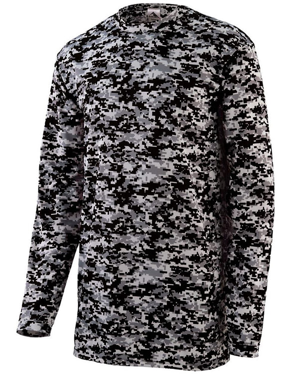 Digi Camo Wicking Long sleeve T-Shirt-Augusta Sportswear-Pacific Brandwear
