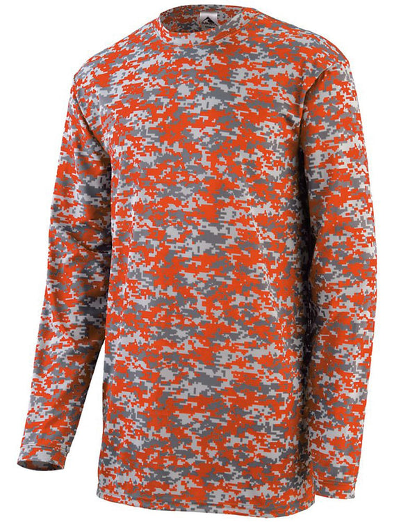 Youth Digi Camo Wicking Long sleeve T-Shirt-Augusta Sportswear-Pacific Brandwear