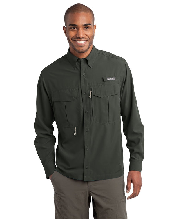 Eddie Bauer® - Long Sleeve Performance Fishing Shirt-Eddie Bauer-Pacific Brandwear