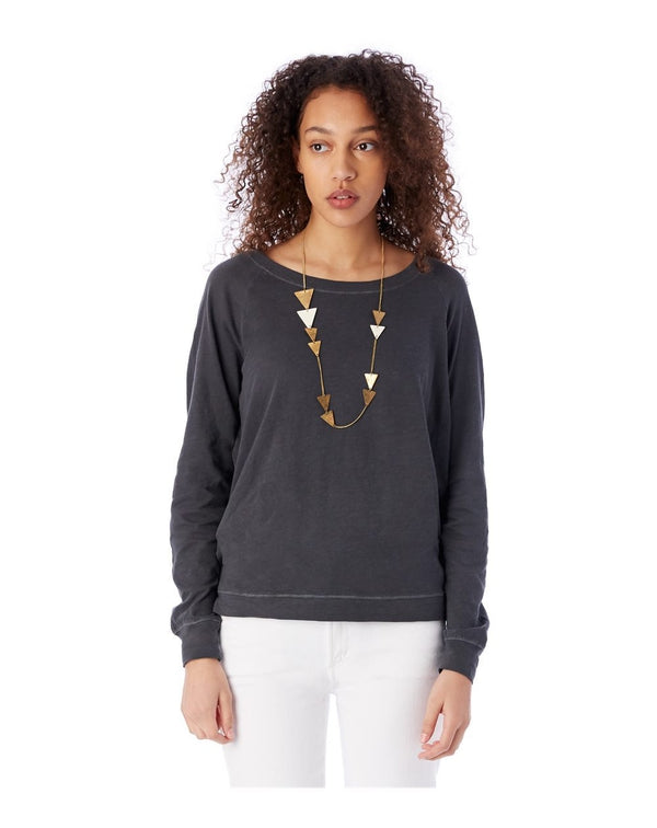 Slouchy Washed Slub Pullover SweatShirt-Alternative Apparel-Pacific Brandwear