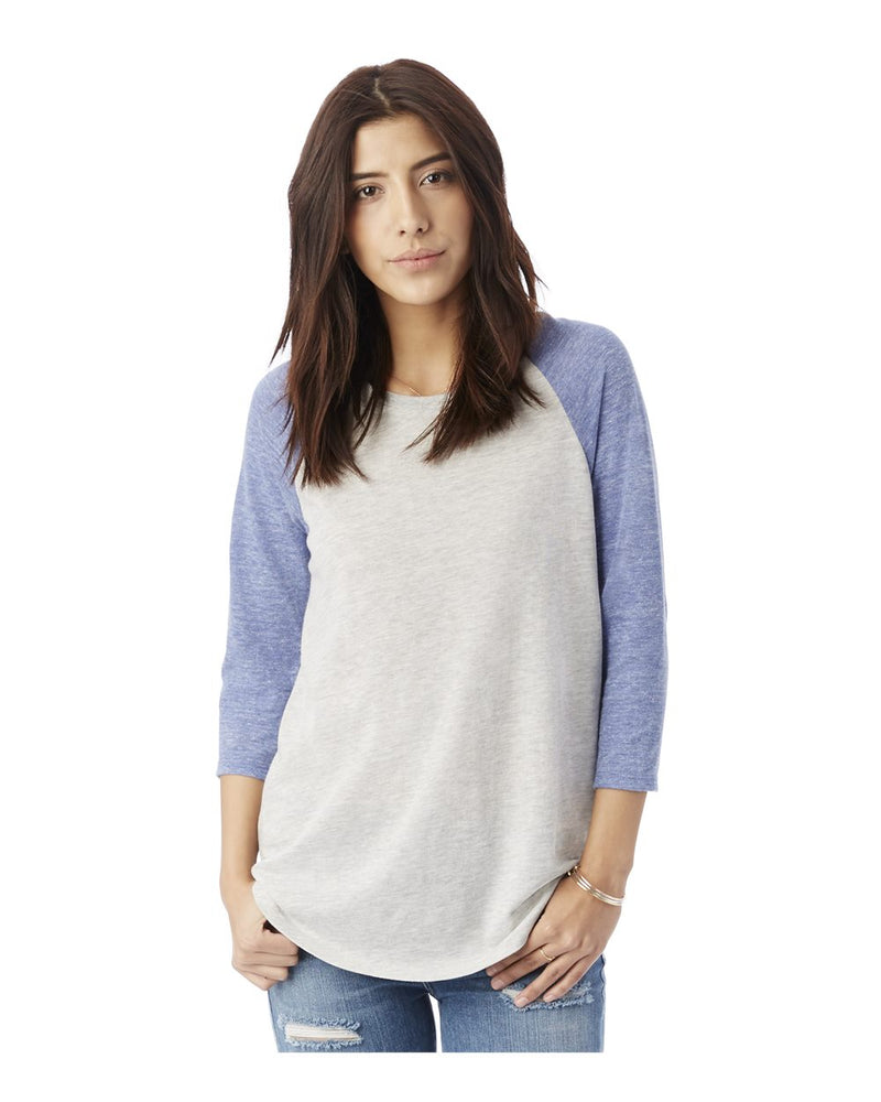 Women's Baseball Eco-Jersey Raglan T-Shirt-Alternative Apparel-Pacific Brandwear