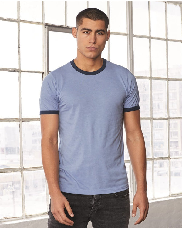Bella + Canvas Heather Ringer Jersey Tee-Bella-Pacific Brandwear
