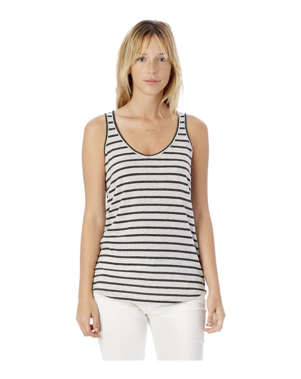 Women's Castaway Eco-Jersey Stripe Tank Top-Alternative Apparel-Pacific Brandwear