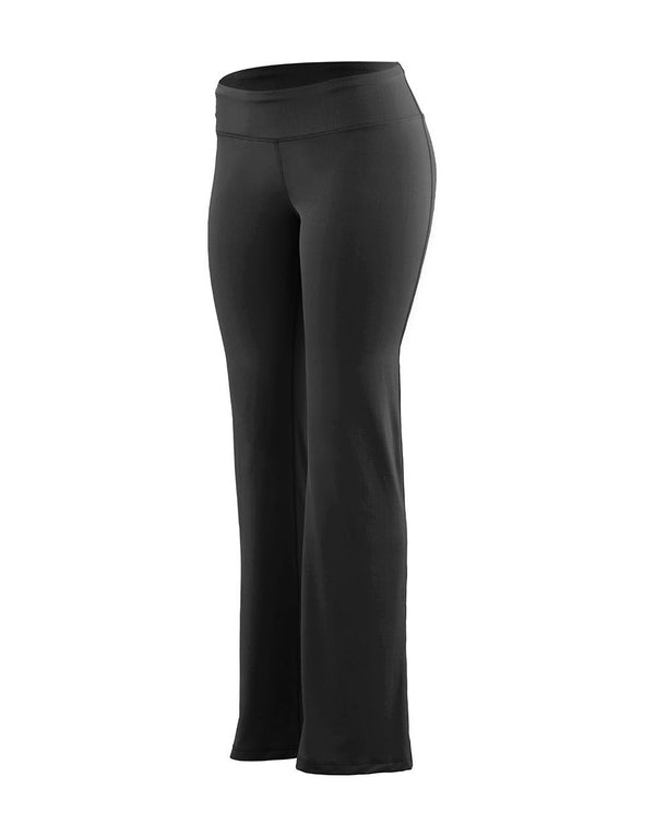 Women's Tall Size Wide Waist Brushed Back Poly/Spandex Pants-Augusta Sportswear-Pacific Brandwear