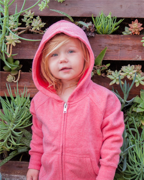 Toddler Lightweight Special Blend Raglan Zip Hood-Independent Trading Co.-Pacific Brandwear