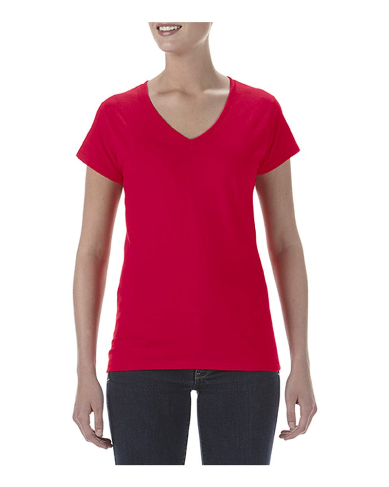 Women's Lightweight Fitted V-Neck T-Shirt-Anvil-Pacific Brandwear