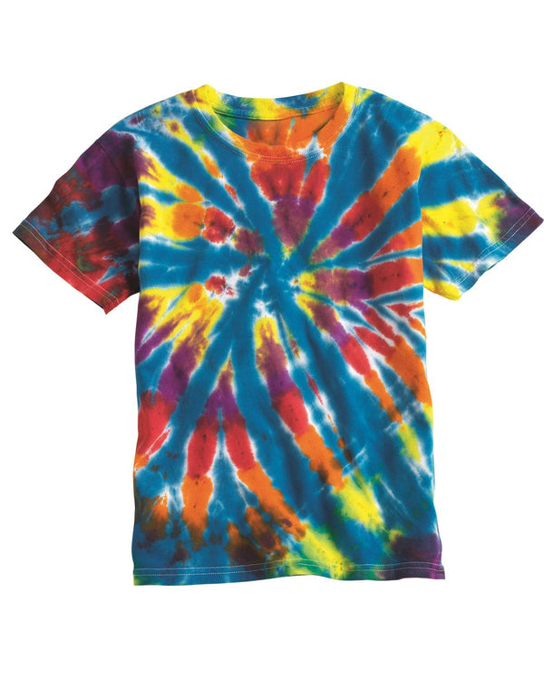 Youth Rainbow Cut-Spiral T-Shirt-Dyenomite-Pacific Brandwear