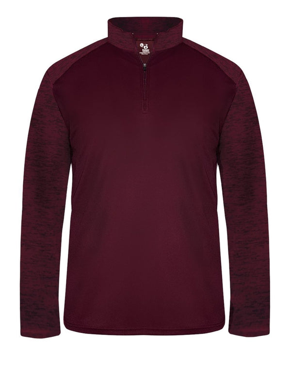 Sport Tonal Blend Quarter-Zip Pullover-Badger-Pacific Brandwear
