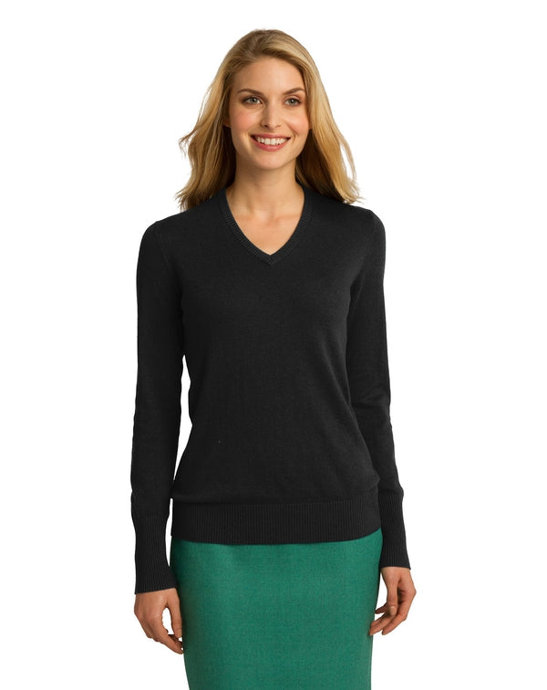 Port Authority® Ladies V-Neck Sweater-Port Authority-Pacific Brandwear