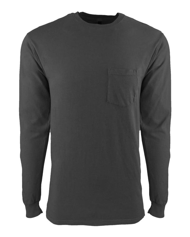 Inspired Dye Long sleeve Pocket Crew-Next Level-Pacific Brandwear