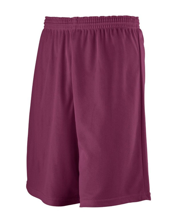 Youth Longer Length Mini Mesh League Shorts-Augusta Sportswear-Pacific Brandwear