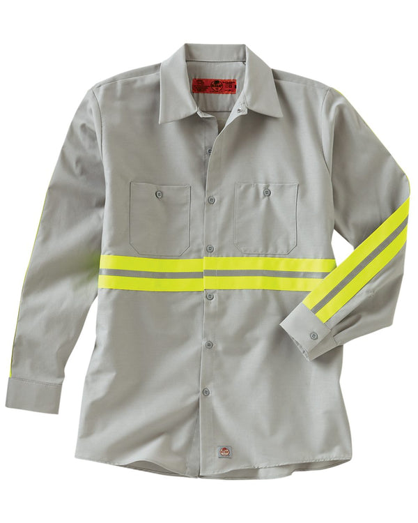 Industrial Enhanced-Visibility Long sleeve Work Shirt-Red Kap-Pacific Brandwear