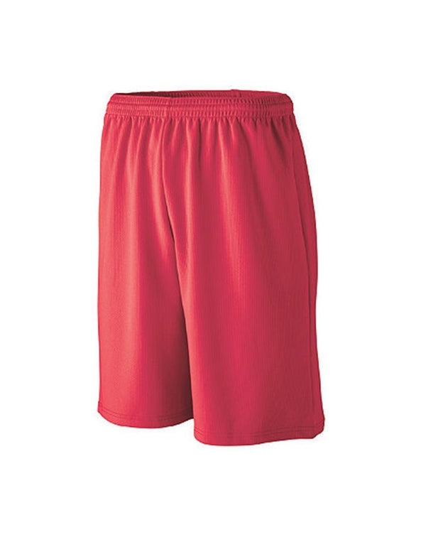 Youth Longer Length Wicking Mesh Athletic Shorts-Augusta Sportswear-Pacific Brandwear