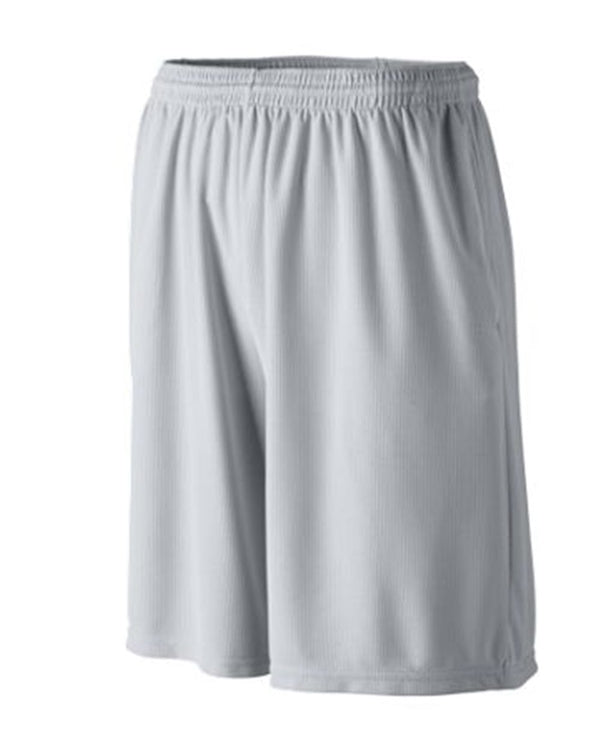 Youth Longer Length Wicking Shorts with Pockets-Augusta Sportswear-Pacific Brandwear