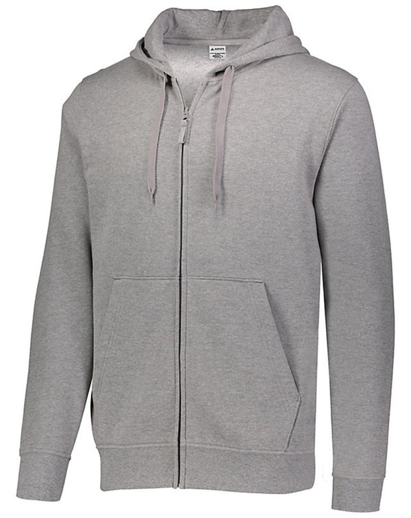 60/40 Fleece Full-Zip Hoodie-Augusta Sportswear-Pacific Brandwear