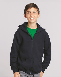 Heavy Blend Youth Full-Zip Hooded SweatShirt-Gildan-Pacific Brandwear