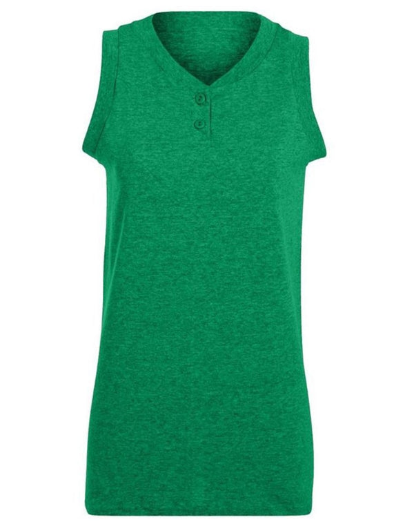 Girls' sleeveless Two-Button Softball Jersey-Augusta Sportswear-Pacific Brandwear