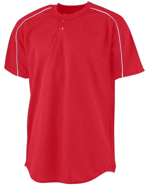 Youth Wicking Two-Button Baseball Jersey-Augusta Sportswear-Pacific Brandwear