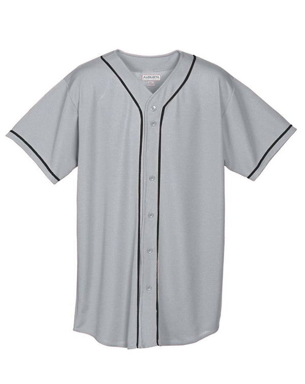Youth Wicking Mesh Button Front Jersey-Augusta Sportswear-Pacific Brandwear