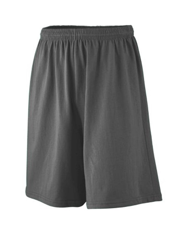Longer Length Jersey Shorts-Augusta Sportswear-Pacific Brandwear