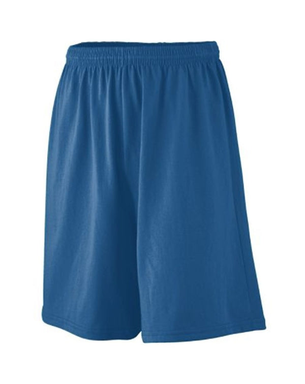Youth Longer Length Jersey Shorts-Augusta Sportswear-Pacific Brandwear