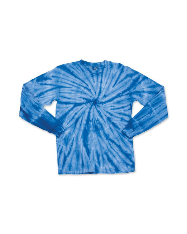 Youth Cyclone Tie Dye Long sleeve T-Shirt-Dyenomite-Pacific Brandwear