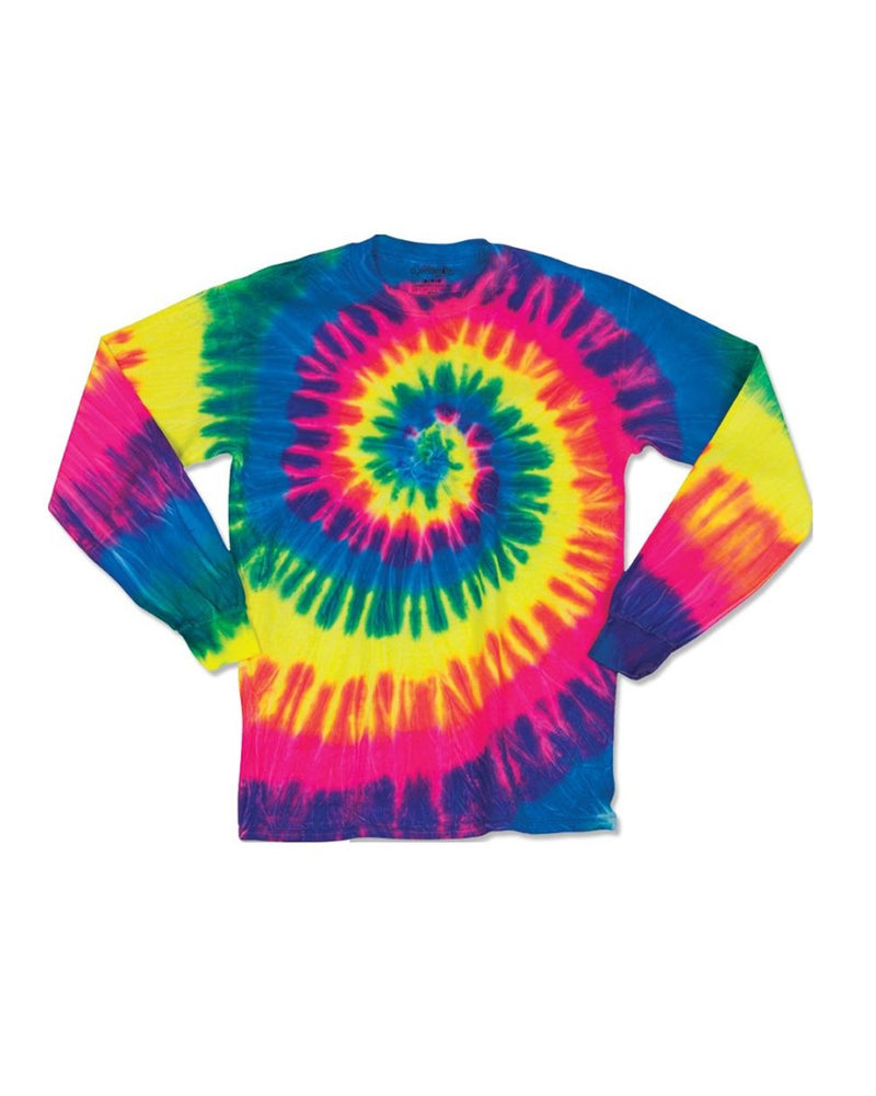 Youth Spiral Tie Dye Long sleeve-Dyenomite-Pacific Brandwear