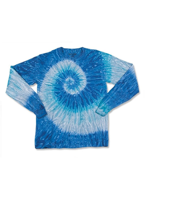 Youth Ripple Tie Dye Long sleeve-Dyenomite-Pacific Brandwear