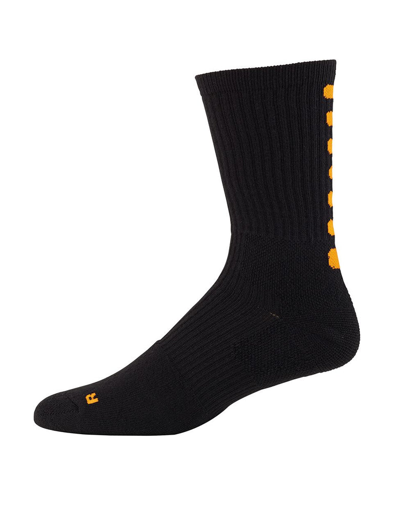 Youth Color Block Crew Socks-Augusta Sportswear-Pacific Brandwear