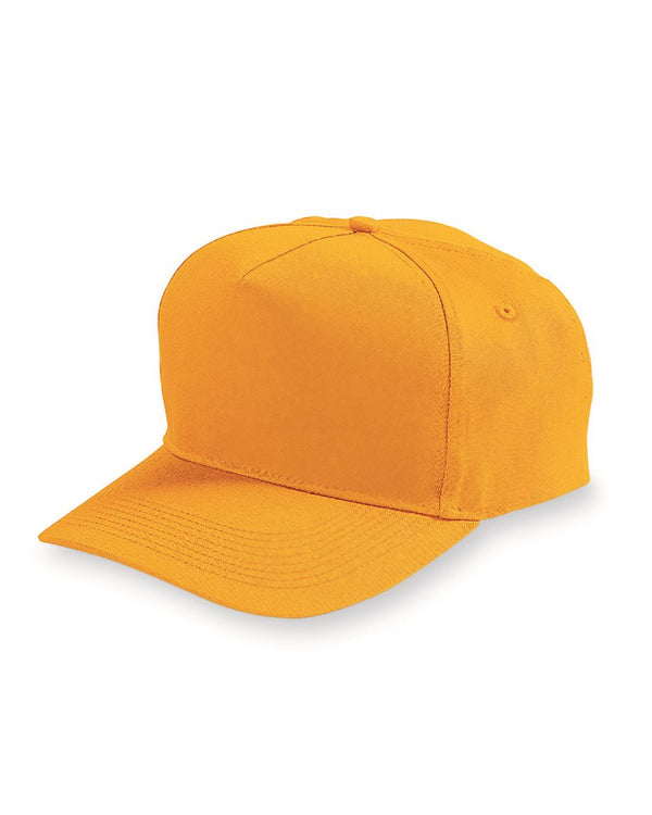 Five-Panel Cotton Twill Cap-Augusta Sportswear-Pacific Brandwear