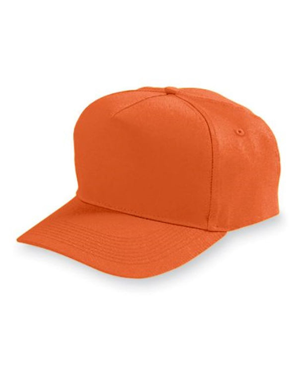 Youth Five-Panel Cotton Twill Cap-Augusta Sportswear-Pacific Brandwear