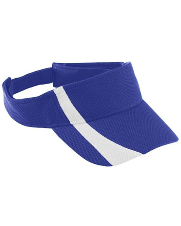 Youth Adjustable Wicking Mesh Two-Color Visor-Augusta Sportswear-Pacific Brandwear
