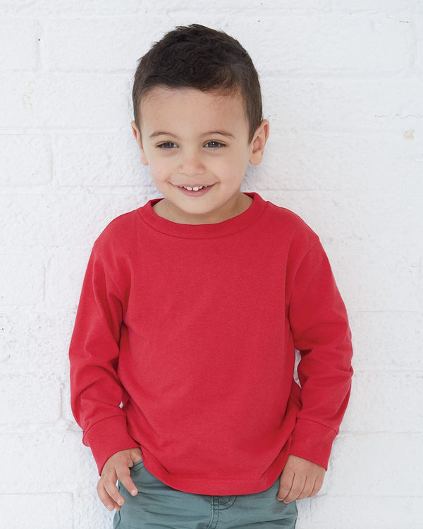 Toddler Long sleeve Cotton Jersey Tee-Rabbit Skins-Pacific Brandwear