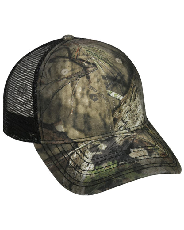 Oil-Stained Camo Mesh-Back Trucker Cap-Outdoor Cap-Pacific Brandwear