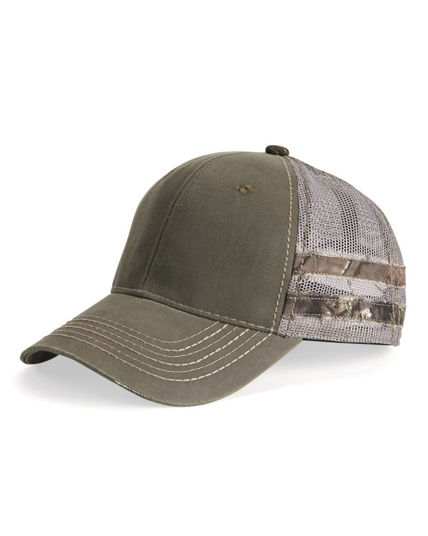 Frayed Camo Stripes Mesh-Back Cap-Outdoor Cap-Pacific Brandwear