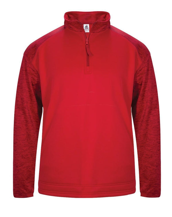 Sport Tonal Blend Fleece Long sleeve Quarter-Zip Pullover-Badger-Pacific Brandwear