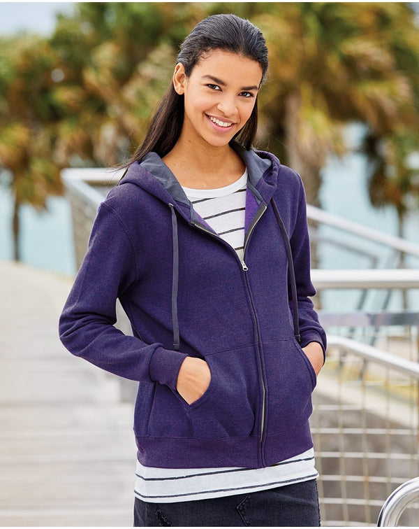 Women's Sofspun Full-Zip Hooded Sweatshirt-Fruit of the Loom-Pacific Brandwear