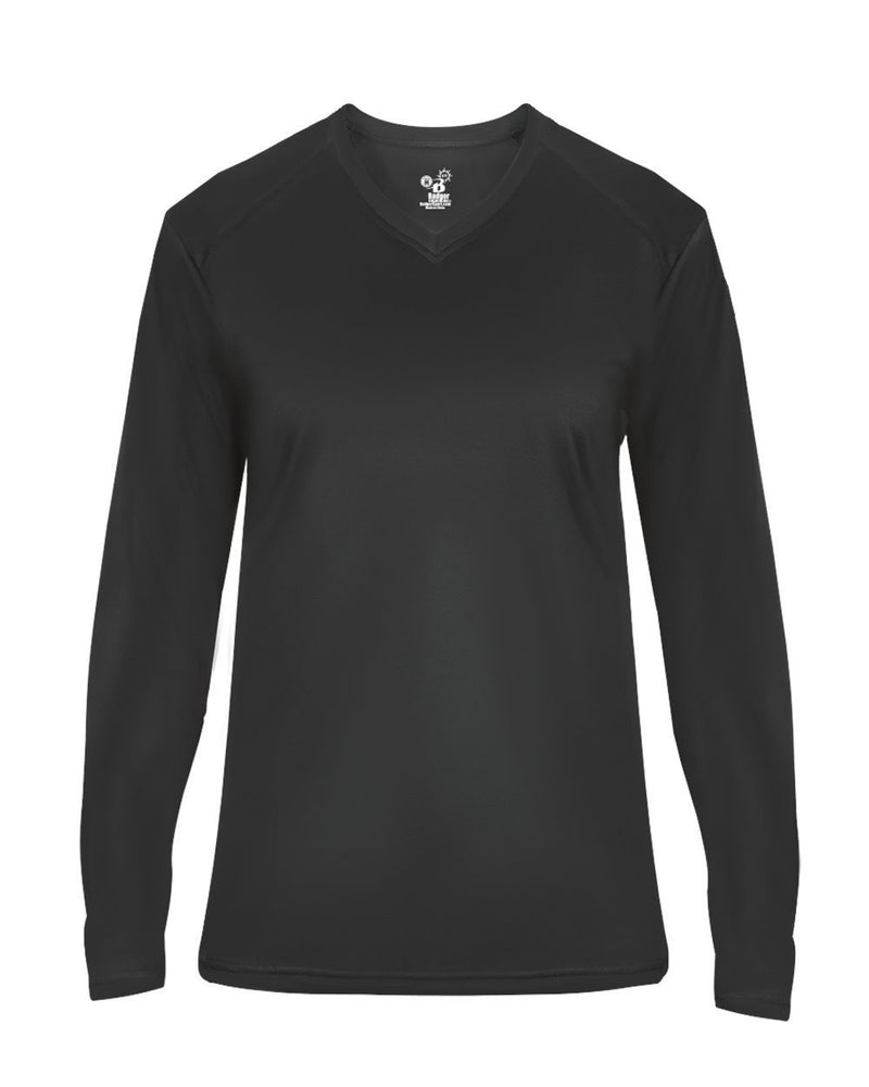 Women's Ultimate SoftLock V-Neck Long sleeve T-Shirt-Badger-Pacific Brandwear
